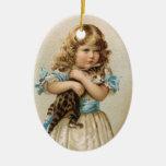 Ornamento del navidad del gato del Victorian Adornos De Navidad
