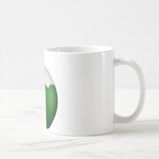 Ornamento del navidad del globo del vidrio verde taza
