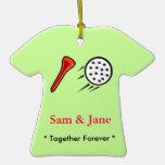 Ornamento del navidad del golf junto para siempre ornamente de reyes