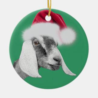 Ornamento del navidad del gorra de Santa de la Adorno Navideño Redondo De Cerámica