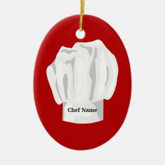 Ornamento del navidad del gorra del cocinero ornatos