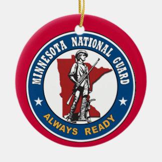 Ornamento del navidad del Guardia Nacional de Adorno Navideño Redondo De Cerámica