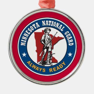 Ornamento del navidad del Guardia Nacional de Adorno Navideño Redondo De Metal