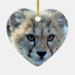Ornamento del navidad del guepardo ornamentos de reyes