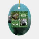 Ornamento del navidad del hipopótamo ornamentos de reyes