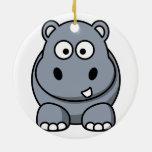 Ornamento del navidad del hipopótamo adornos de navidad