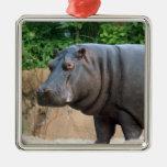 Ornamento del navidad del hipopótamo ornamento para reyes magos