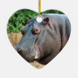 Ornamento del navidad del Hippopotamus Ornamente De Reyes