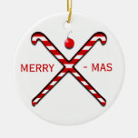Ornamento del navidad del hockey hierba adorno navideño redondo de cerámica