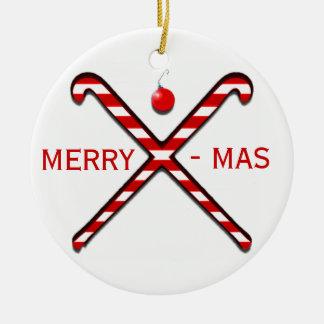 Ornamento del navidad del hockey hierba ornamento de navidad