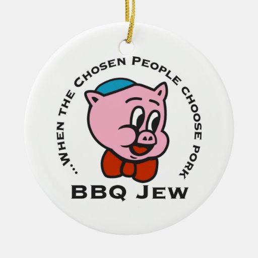 Ornamento del navidad del judío del Bbq Ornamento Para Arbol De Navidad