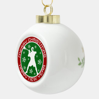 Ornamento del navidad del jugador de LaCrosse