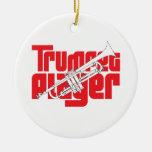 Ornamento del navidad del jugador de trompeta ornatos