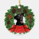 Ornamento del navidad del labrador retriever adorno de navidad