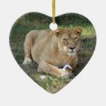 Ornamento del navidad del león de Barbary Ornamentos De Reyes