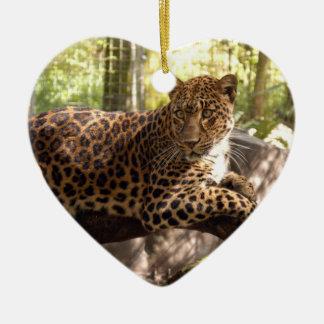 Ornamento del navidad del leopardo ornatos
