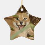 Ornamento del navidad del lince de Caracal Adornos De Navidad
