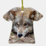 Ornamento del navidad del lobo gris ornaments para arbol de navidad