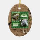Ornamento del navidad del lobo gris ornamentos de reyes