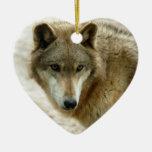 Ornamento del navidad del lobo gris ornamente de reyes