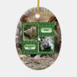 Ornamento del navidad del lobo gris ornamento para arbol de navidad