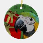 Ornamento del navidad del loro del Macaw del azul  Ornamentos Para Reyes Magos