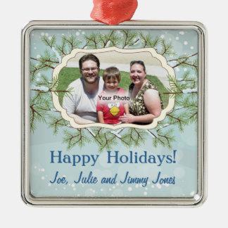 Ornamento del navidad del marco de la foto de los adorno