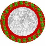 Ornamento del navidad del marco de la foto - modif esculturas fotograficas