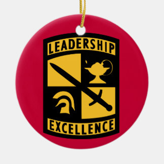Ornamento del navidad del monograma de ROTC Adorno Navideño Redondo De Cerámica