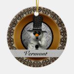 Ornamento del navidad del muñeco de nieve de Vermo Adornos