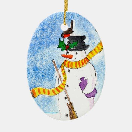 Ornamento del navidad del muñeco de nieve adorno de reyes