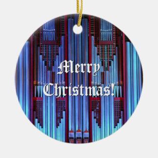 Ornamento del navidad del órgano adorno navideño redondo de cerámica