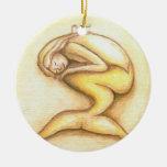 Ornamento del navidad del oro de la sirena el dorm ornamentos de navidad