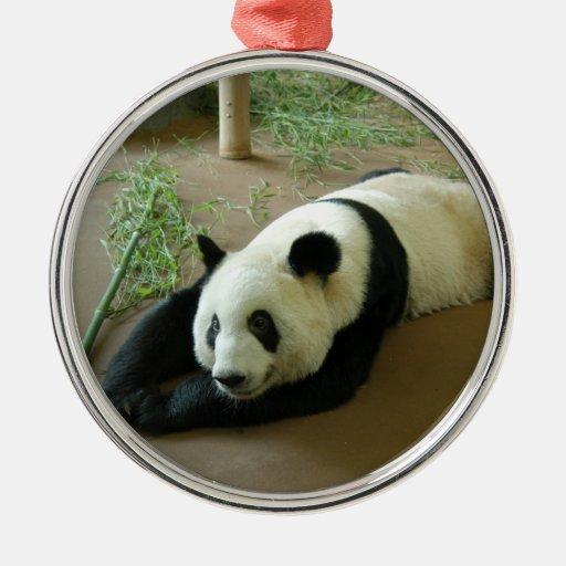 Ornamento del navidad del oso de panda adorno