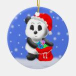 Ornamento del navidad del oso de panda ornamentos de reyes magos
