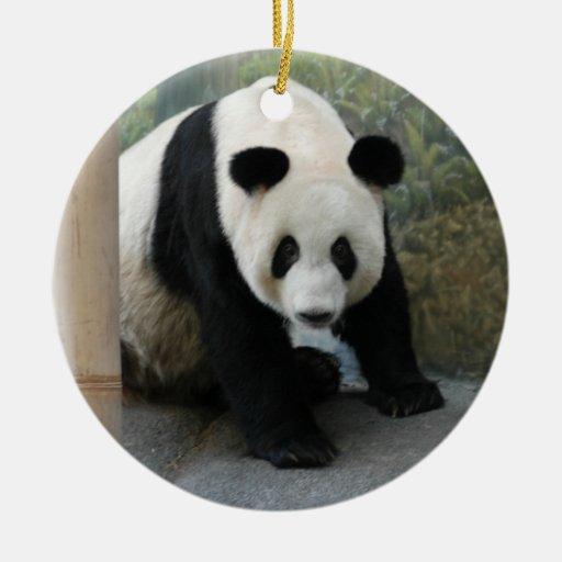 Ornamento del navidad del oso de panda adorno de navidad