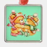 Ornamento del navidad del oso de peluche de los ge ornaments para arbol de navidad