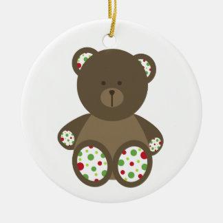 Ornamento del navidad del oso del lunar ornamento de reyes magos