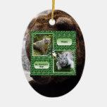 Ornamento del navidad del oso grizzly adornos
