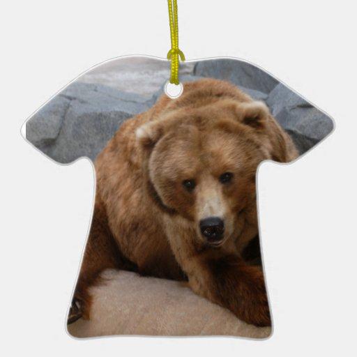 Ornamento del navidad del oso grizzly ornamento de reyes magos
