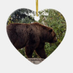 Ornamento del navidad del oso grizzly adornos de navidad