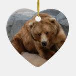Ornamento del navidad del oso grizzly ornamento para reyes magos