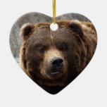 Ornamento del navidad del oso grizzly ornamentos para reyes magos