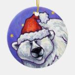 Ornamento del navidad del oso polar adorno para reyes