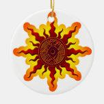 Ornamento del navidad del pájaro de Sun Adorno