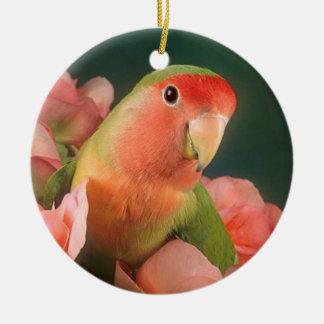 Ornamento del navidad del pájaro del amor ornaments para arbol de navidad