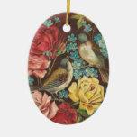Ornamento del navidad del pájaro del Victorian Ornamentos Para Reyes Magos