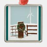 Ornamento del navidad del parque eólico adorno