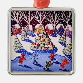 Ornamento del navidad del patín de hielo de los adorno de navidad