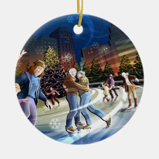 Ornamento del navidad del patinaje de hielo adornos de navidad